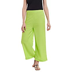 Panit Green Stylish Plazzo Trousers Double Extra Large