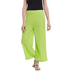 Panit Green Stylish Plazzo Trousers Small