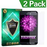 Toufftek Galaxy Note 4 Displayschutzfolie, [2er Pack] 0,2 mm HD gehärtetem Glas Displayschutzfolie für Samsung Galaxy Note4 (tmn4 a) (Cellular Us Note4 Galaxy Samsung)