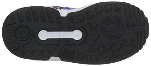 adidas Zx Flux, Chaussures Marche Mixte Bébé, Bleu, 22 EU Multicolore (Eqt Blue S16/Ftwr White/Core Black)