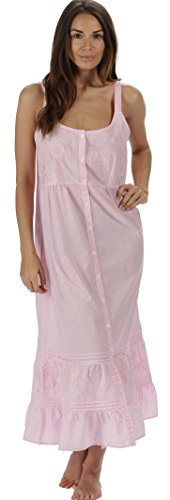 The 1 for U 100% Baumwolle Nachthemd - Ruby - Rosa Schmetterling, XXX-Large