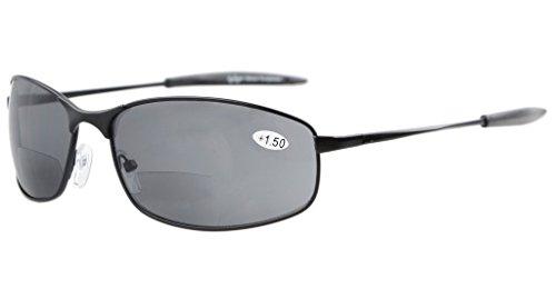 Eyekepper Metallrahmen Fischen Golf Radfahren Fliegen im Freien Bifocal Sonnenbrillen Schwarz +1.0