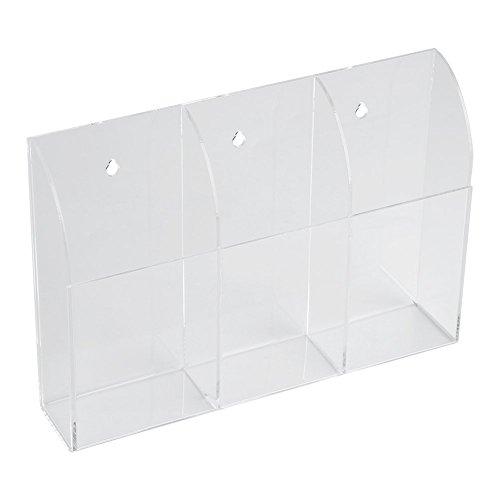 Fernbedienung Halter Organizer Gehäuse Wandhalterung Acryl Media Aufbewahrungsbox für Desktop Clear TV Klimaanlage Lagerung(3) - Schlafzimmer Media Storage