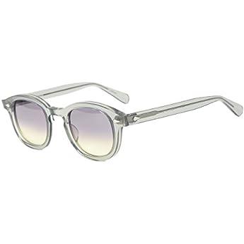 Pirata Capitano Johnny Depp stile ovale in plastica Occhiali da sole Moda uomo e donna Vintage guida occhiali da sole può fare la prescrizione Gradazione Occhiali da sole lenti (grigio progressivo)