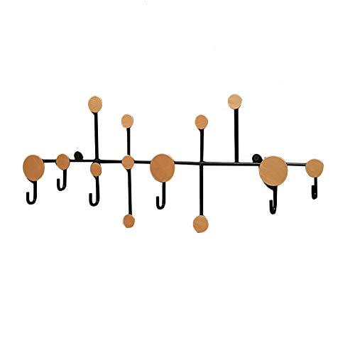 DonLucancy Wandhaken Dekorative Polka Dot Schmiedeeisen Kleiderhaken Wandhaken Wandspeicher Organizer Rack für Wohnzimmer Mäntel, Hoodies, Hüte, Schals, Geldbörsen, Leinen