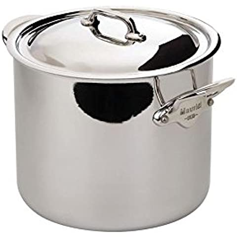 M'Cook Stock Pot with Lid Size: 10.5 QT. by Mauviel