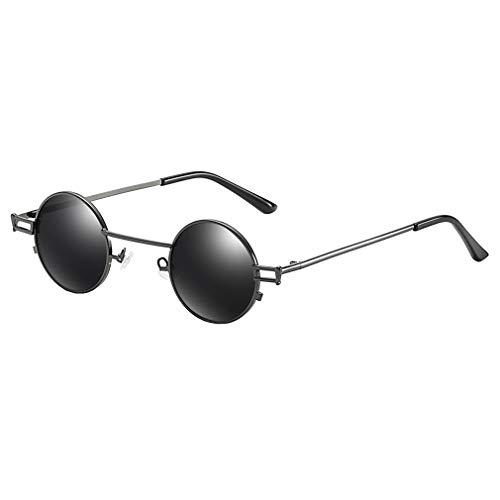 hongxin Sonnenbrille für Frauen und Männer Klein Brillenfassung Schmalem Metallgestell Karneval Steampunk Fliegerbrille