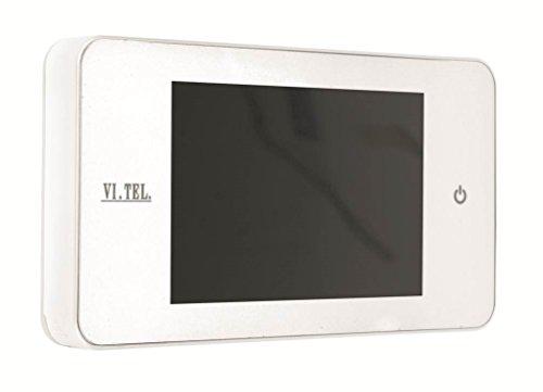 """Vi.Tel. E0378 60-Mirilla Digital, Blanco, 4"""""""
