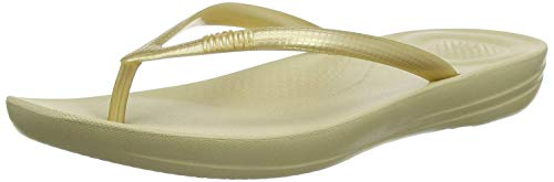 Fitflop Iqushion Ergonomic Flip-flops, Damen Dusch- & Badeschuhe, Gold (Gold 010), 36 EU (3 UK)