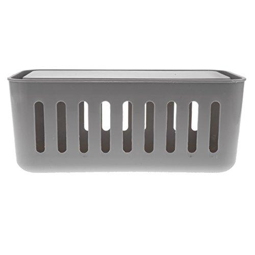 Sharplace Aufbewahrungsbox fall Kabel-Organizer-Box für elektronische Komponente - Grau Elektronische Komponente Box