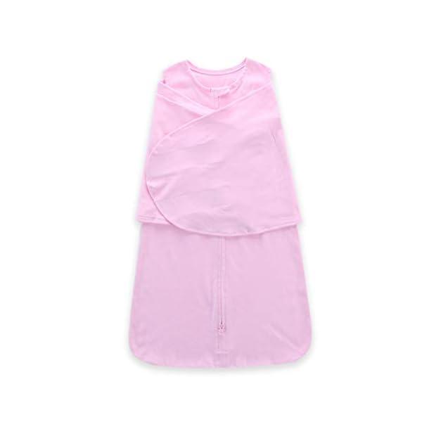 HAOHEYOU Newborn Solid Sleeping Bag Swaddle,3 6 12 18 24 Adjustable Baby Sack Wrap Wearable Blanket 4