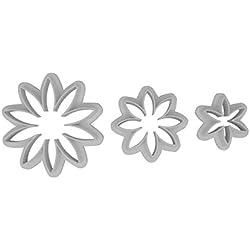 DeColorDulce Margarita Set Cortadores, Blanco, 28x10x5 cm, 3 Unidades