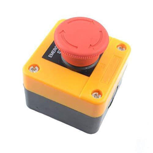 Especificaciones:   Material: Plástico y Metal  Peso: 121g  Nuestro interruptor de parada de emergencia está hecho de plástico y metal de alta calidad, seguro y duradero.  4 terminales de tornillo, contacto tipo 1 contacto NO + 1 NC, interruptor de ...