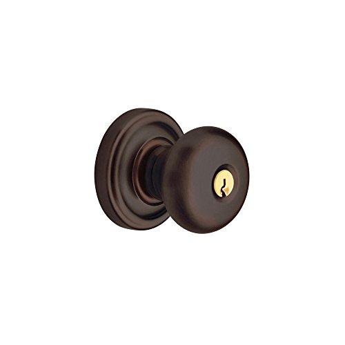 Baldwin Estate 5205.102.ENTR Keyed Entry Classic Knob in Oil Rubbed Bronze - Bronze Keyed Baldwin Hardware