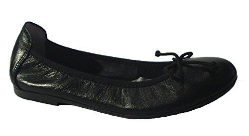 Black Schwarz Slipper Ballerinas Flats Leder Acebo's nwc8R0qn