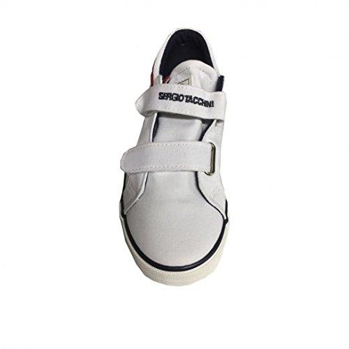 Chaussures Velcro Copenhagen Cvs White/Red Jr - Tacchini Blanc