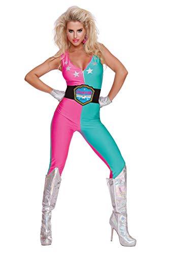 Dreamgirl Damen Wrestling Champ Top, Mehrfarbig (Multicoloured 001), ((Herstellergröße: Small) (Damen Wrestling Kostüm)
