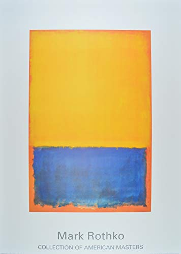 Germanposters Mark Rothko Poster Kunstdruck Untitled (Yellow Blue on Orange) 100 x 70 cm -