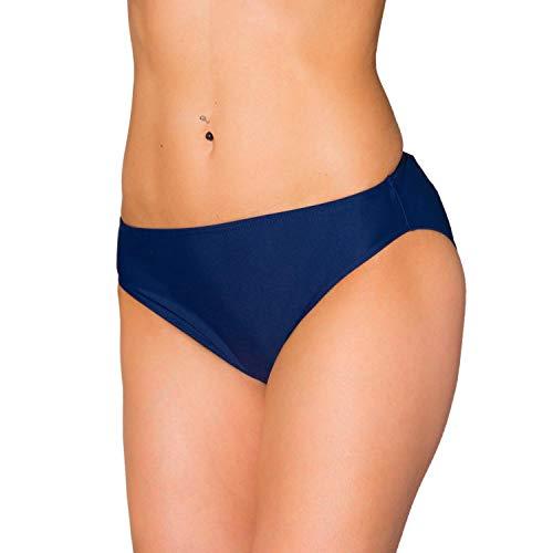 Aquarti Damen Bikini Hose mit mittelhohem Bund, Farbe: Dunkelblau, Größe: 38