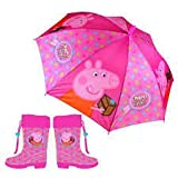 Set bota + paraguas Peppa Pig 25(2)-27(2)-29(2)