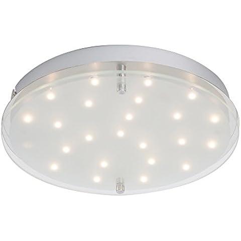 Lampada LED da parete e soffitto, cielo stellato, 27 cm di diametro, 90 lm, bianco caldo, 3.000 K