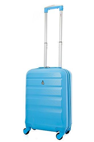 Aerolite ABS Bagage Cabine Bagage à Main Valise Rigide Légere à 4 Roulettes , Approuvées pour Ryanair , Easyjet , Air France , Lufthansa , Jet2 , Mona...