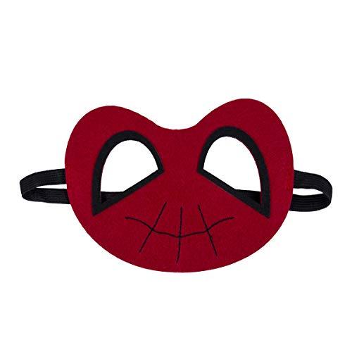 Greetuny Superheld Masken Super Masken Weihnachten Halloween Maske Superheld Cosplay Augenmasken Filzmasken-ideal für Kinder ab 3 Jahren (Spiderman)