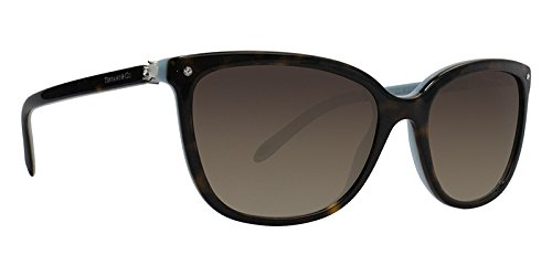 Tiffany 0ty4105hb 81343b, occhiali da sole donna, blu (havana/blue/browngradient), 55