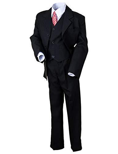 Hei Mei 5tlg. Jungen Fest Anzug Kommunionsanzug Smoking Kinderanzug für viele Festliche Anlässe M133sw Schwarz 2/98 / ()