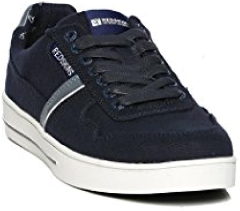 Schuhe Redskins Sneaker Canvas MOLKI Navy Jean Weiß