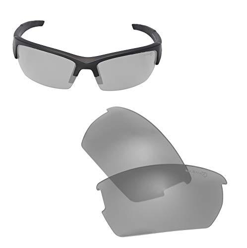 Walleva Ersatzgläser für Wiley X Valor Sonnenbrille - Verschiedene Optionen erhältlich, Unisex-Erwachsene, Titanium - Mr. Shield Polarized, Einheitsgröße