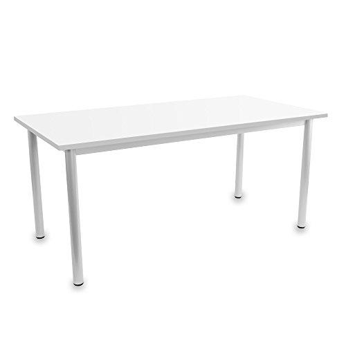 OPTIMA Besprechungstisch Weiß 160x80cm 4-6 Pers. Konferenztisch Meetingtisch