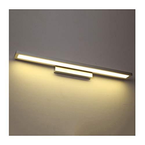 LED Spiegelfrontlampe Led bad eitelkeit leuchten aluminium lampe körper schlafzimmer wandhalterung lampe waschbecken spiegel lampe wasserdicht und anti-fog zwei helle farben (Farbe : B-60cm) (Waschbecken 60 Bad Zwei Eitelkeit,)