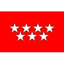 Gran Bandera Comunidad de Madrid 150 x 90 cm Satén Flag Durabol+Regalo  Pulsera . 4c2f21639c29e