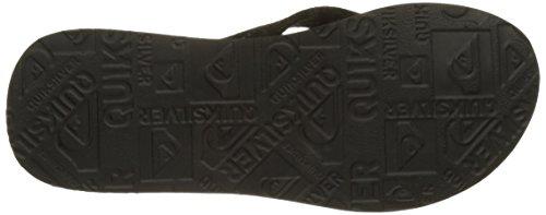 Quiksilver Herren Carver Suede Art Sandals Black/Black/Orange