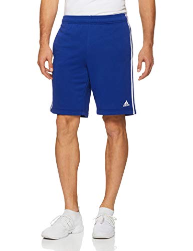 adidas Herren Essentials 3 Stripes French Terry Short 1/2, Mystery Ink/White, L -