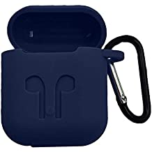 Brain Freezer Silicone Shock Proof Protection Sleeve Skin Carrying Bag Box Cover Case Compatible with AirPods Wireless Headset Earphone Blue