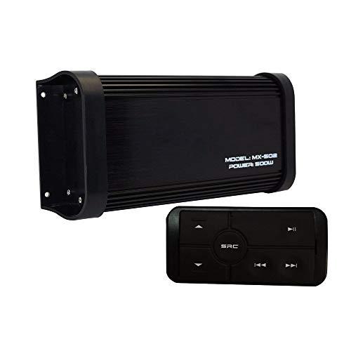 500 Watt 4 Kanal Klasse A / B Wasserdicht Motorrad Marine Bluetooth Verstärker Boot Stereo Audio Receiver Sound System MP3 Player mit Aux In Cinch Out für Boot ATV UTV Powersports Tractor Truck