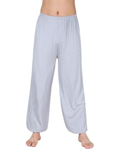 HOEREV Super Soft Nylon Spandex Harem Yoga / Pilates Pantaloni Uomo Nero