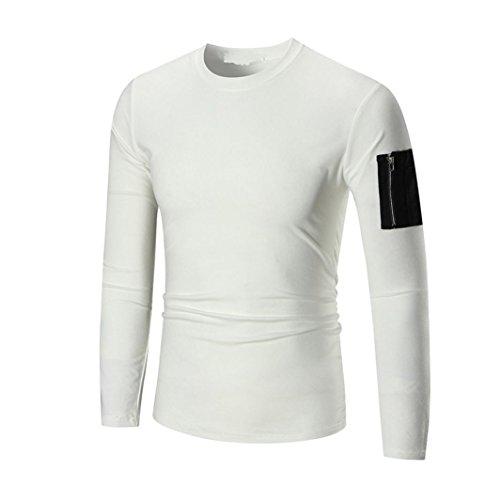 Premium Basic Zip (VENMO Männer Premium Kapuzenpullover ,Hoodie Männer Langarmshirt Kapuzenpulli Tops Jacken Mantel Outwear Herren Sweatshirt Hoodie Sweatjacke Kapuzenpullover (M, White))