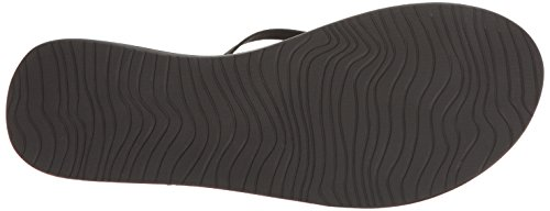 Reef Leather Uptown, Tongs Fille Noir