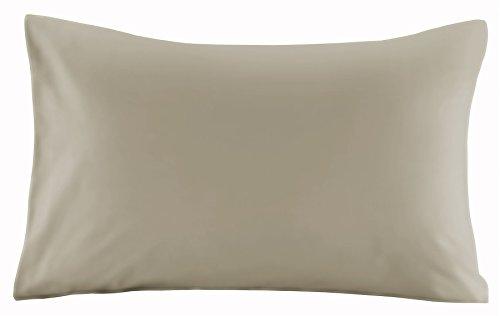 """-Coppia di federe tinta unita 100% cotone percalle T200, talpa, Standard Size Pillow (19"""" x 29"""")"""