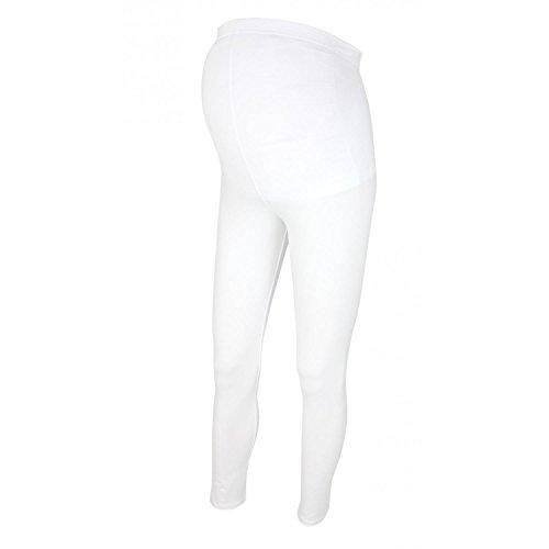 Alkato Damen Umstandsleggings Lang Schwangerschaft Leggins , Farbe: Weiß, Größe: 36