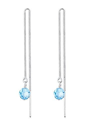 Elli Ohrringe Kette Kugel Swarovski® Kristalle Eleganz Silber