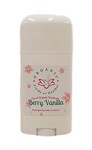 Organic Deodorant-Berry Vanilla-Healthy All Natural Deodorant Detoxes With No Aluminum - Handcrafted In New Hampshire...
