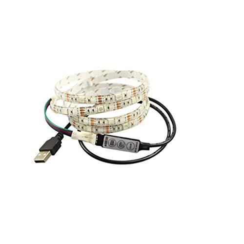 JesseBro76 SMD 5050 LED Streifen Licht TV USB Hintergrundbeleuchtung Kit 1M RGB TV Hintergrundbeleuchtung weiß Hdtv Power Solution Kit