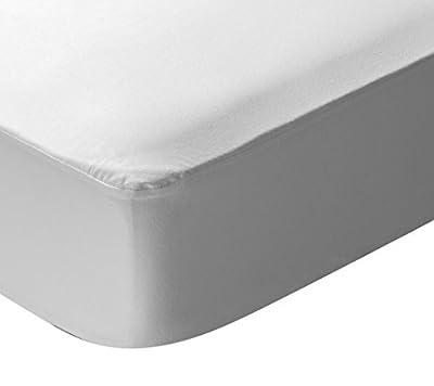 Pikolin Home - Protector de colchón punto para cuna, 100% algodón, impermeable y transpirable