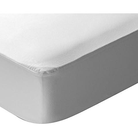 Pikolin Home Natural - Protector de colchón punto, 100% algodón, impermeable y transpirable, 80 x 190/200 cm, cama 80