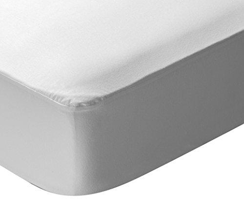 Pikolin Home - Protector de colchón punto para cuna, 100% algodón, impermeable...