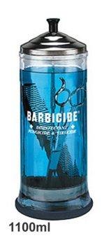 Barbicide Desinfektionsglas 1100 ml Zum desinfizieren von Scheren, Kämmen & Weiteren Desinfektionsmittel Jar